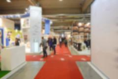 Defocused background of a trade show Stock Photos