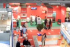 Defocused background of a trade show Kuvituskuvat