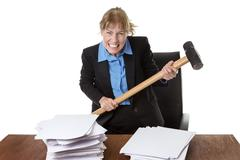 Emotional Stress, Paperwork, Frustration. - stock photo