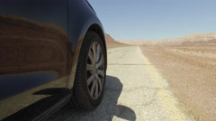 Drought, a trip to the desert.Road in the desert. Stock Footage