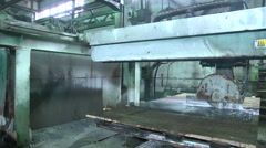 Granite stone cut saw Stock Footage