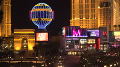 4K: Miracle Mile Shopping District on Las Vegas Strip - stock footage