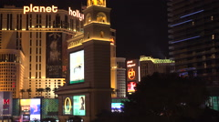 4K: Miracle Mile Shopping District on Las Vegas Strip Stock Footage