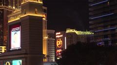 4K: Luxury Hotels in Las Vegas Strip Skyline Stock Footage