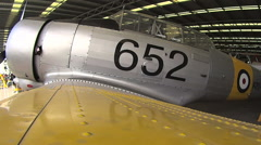 Profile View Of Australian Wirraway Fighter Plane Stock Footage