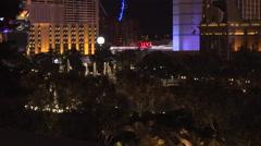 4: The Bellagio Fountains on the Las Vegas Strip Stock Footage