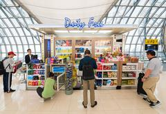 duty free shop in departure area of Bangkok airport - stock photo