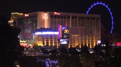 4K: Las Vegas Skyline at The Flamingo Hotel Stock Footage
