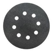 perforated abrasive wheel, isolated - stock photo