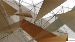 Geometric forms abstract motion background Stock Footage