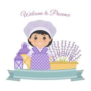 Icons vector Provence - stock illustration