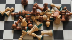 Chessboard and chess pieces timelapse Stock Footage