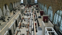 Interior view of Musee d'Orsay Stock Footage