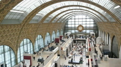 Interior view of Musee d'Orsay - stock footage
