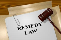 Remedy Law legal concept - stock illustration