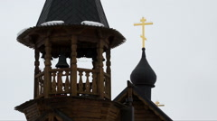Monastery in winter. Stock Footage