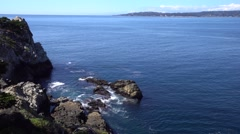 Amazing view of Pacific ocean near Big Sur, California. Stock Footage