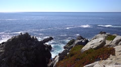 Amazing view of Pacific ocean near Big Sur, California. - stock footage