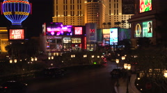 4K: Miracle Mile Shopping District on Las Vegas Strip Stock Footage