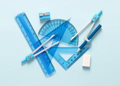 Set of geometry tool Stock Photos