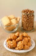 Small cookies on a plate Stock Photos