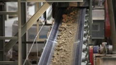 Ceramics Plant, raw materials warehouse - stock footage