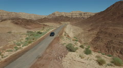 Travel by car through the desert Stock Footage