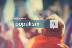 Web search bar glossary term - populism - stock photo