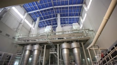 Ceramics Plant, slip in the spray atomizer Stock Footage