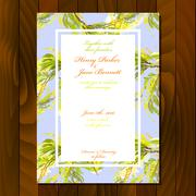 Floral wedding invitation - stock illustration