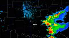 Sulphur / Wynnewood, Oklahoma, Tornado outbreak - stock footage