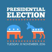 USA presidential election day concept vector illustration. Repuclican and Stock Illustration