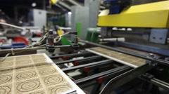 Ceramic tiles manufacturing , Ceramics Plant - stock footage