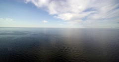 Baltic sea aerial view. Stock Footage