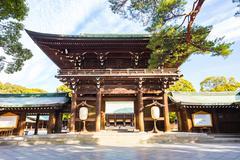 Meiji Shrine in Tokyo, Japan - stock photo