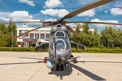 Mi-24 Russian military helicopters Stock Photos