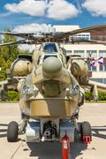 Mi-28 Russian military helicopters Stock Photos