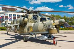 Mi-28N Russian military helicopters Stock Photos