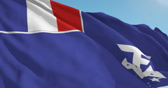 Beautiful looping flag blowing in wind: French Southern Antartic - stock footage