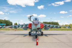 The Sukhoi Su-25 Grach, Frogfoot - stock photo