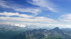 Aerial view of Italian Alps from the Mont Blanc viewpoint Stock Footage