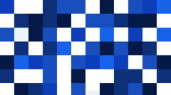 Blue squares filling Stock Footage