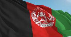 Beautiful looping flag blowing in wind: Afghanistan - stock footage