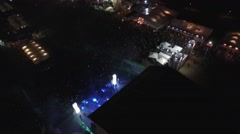 music concert aerial - stock footage