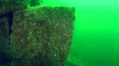 Underwater avalanche on a rocky slope. - stock footage