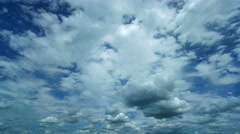 The flow of cloud against the blue sky. Time lapse - stock footage
