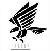 Black Falcon - stock illustration