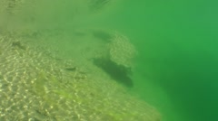 Stones lying in shallow water. Stock Footage
