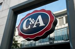 "retail of the logo of the brand ""C and A"" signage - stock photo"
