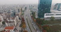 European City Corporate Skyscraper Aerial View 4K Stock Footage
